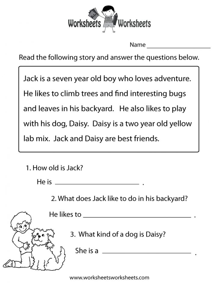 Free Printable Reading Worksheets