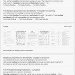 Reading Comprehension Worksheets For 1St Grade   Cramerforcongress | Third Grade Reading Worksheets Free Printable
