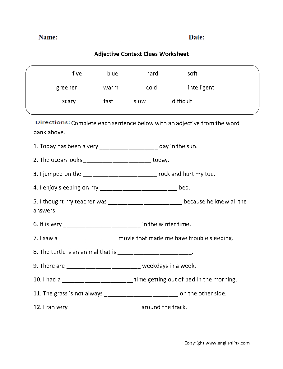 Reading Worksheets | Context Clues Worksheets - Free Printable 5Th | Free Printable Context Clues Worksheets