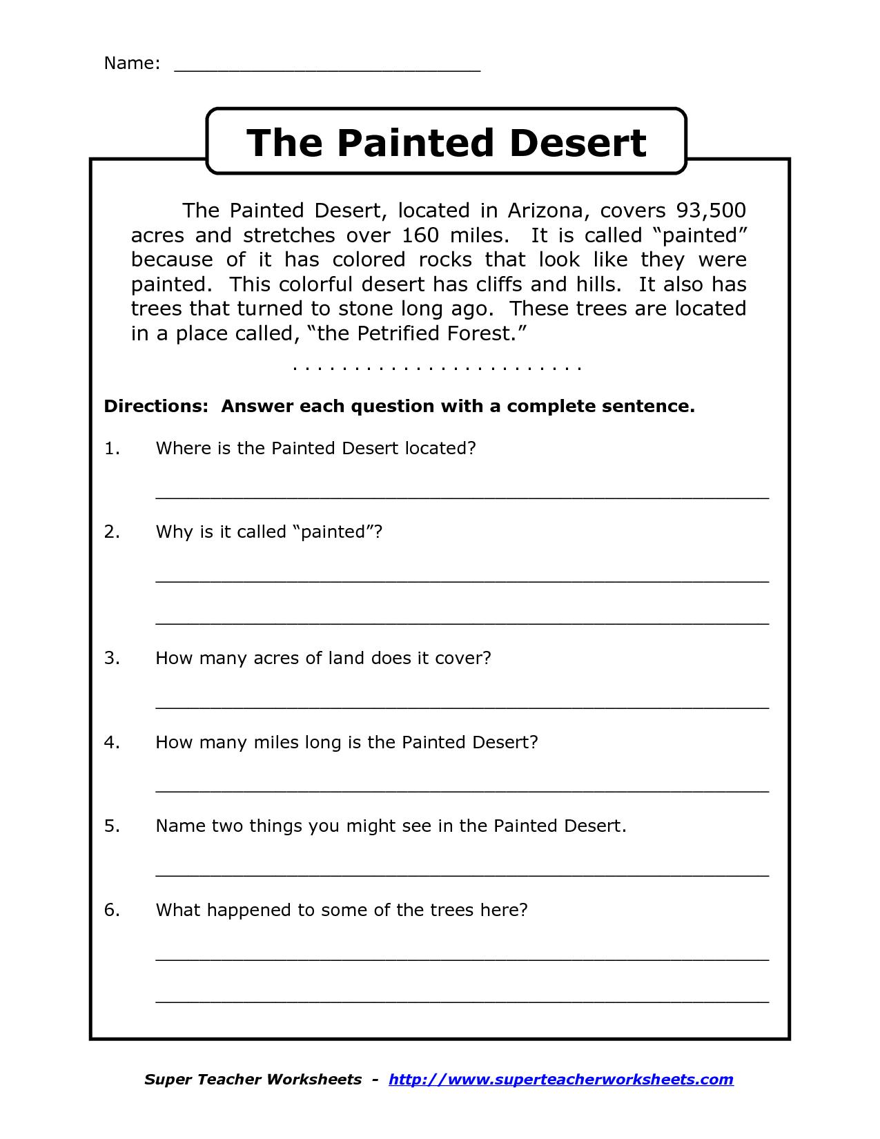 Reading Worksheets For 4Th Grade | Reading Comprehension Worksheets | Free Printable 4Th Grade Reading Worksheets