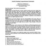 Reading Worksheets | Sixth Grade Reading Worksheets | Free Printable 6Th Grade Reading Worksheets