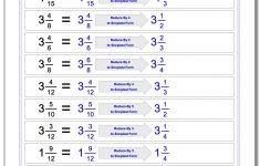 Free Printable Simplifying Fractions Worksheets