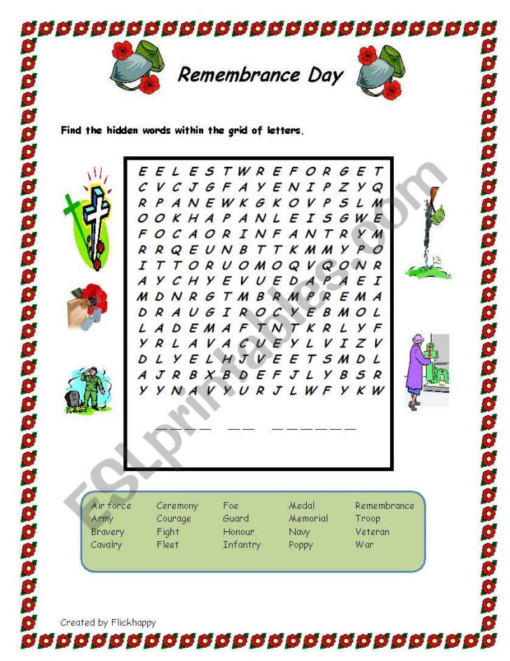 Memorial Day Free Printable Worksheets