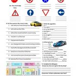 Road Safety, Traffic Signs And Directions Worksheet   Free Esl | Free Printable Traffic Signs Worksheets