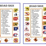 Road Signs Worksheet   Free Esl Printable Worksheets Madeteachers | Free Printable Traffic Signs Worksheets