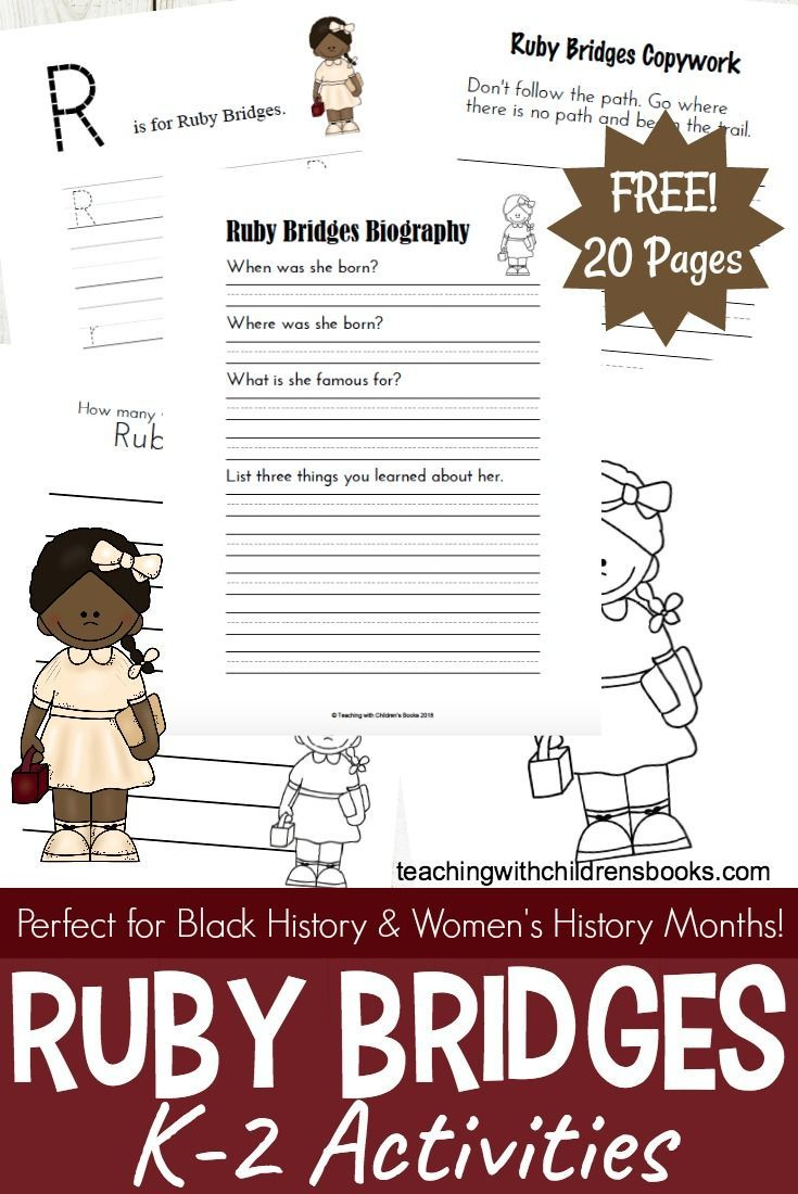 Ruby Bridges Activities And Printables For Black History Month | Ruby Bridges Printable Worksheets