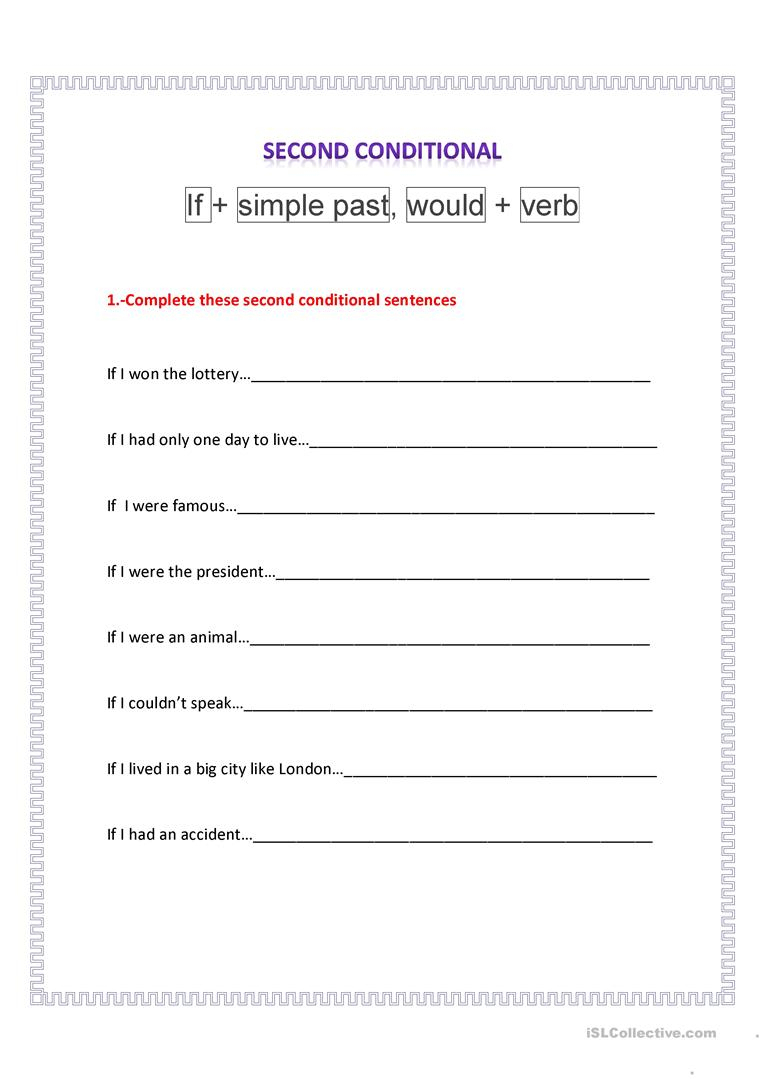 Second Conditional Worksheet - Free Esl Printable Worksheets Made | If I Were President Printable Worksheet