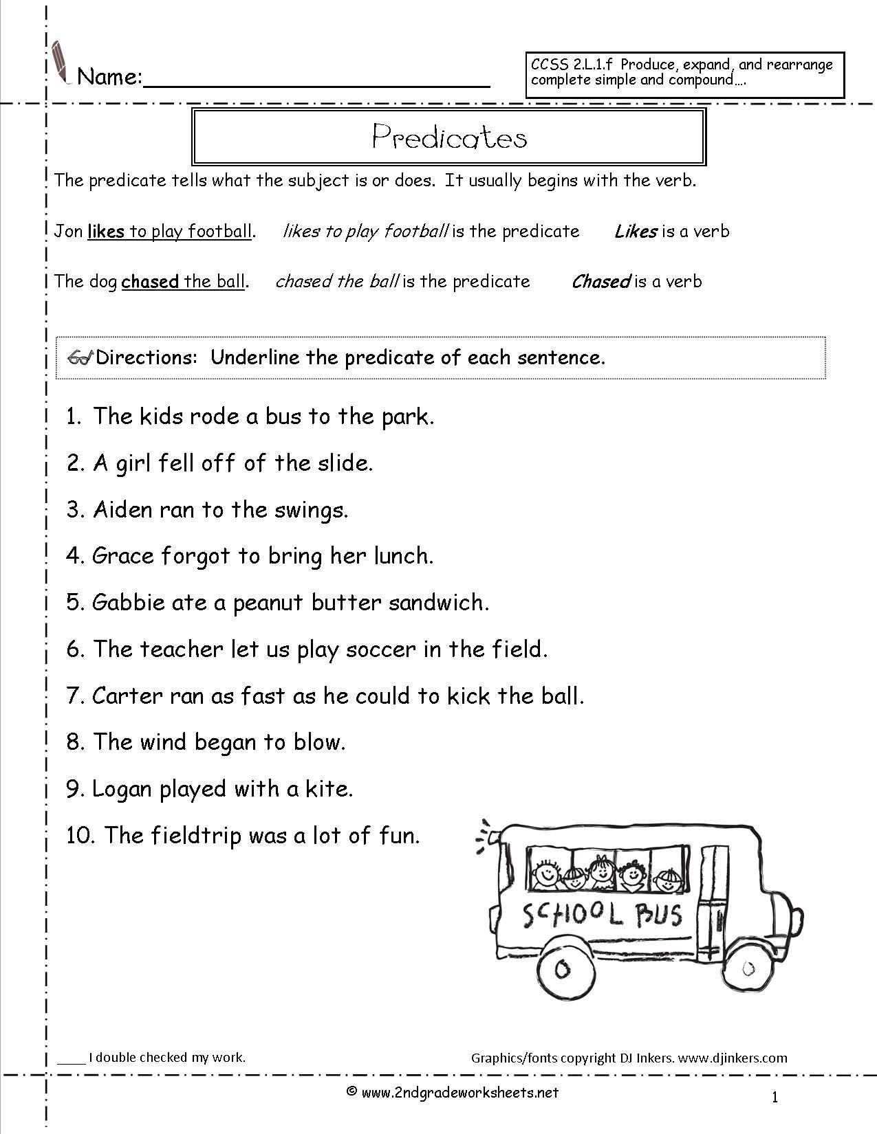 Second Grade Sentences Worksheets, Ccss 2.l.1.f Worksheets. | Free Printable Sentence Correction Worksheets
