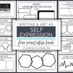 Self Expression Through Writing & Art  Free Self Esteem Worksheets | Self Esteem Printable Worksheets