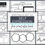 Self Expression Through Writing & Art  Free Self Esteem Worksheets | Self Esteem Printable Worksheets For Kids