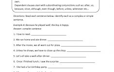 Free Printable Worksheets On Simple Compound And Complex Sentences