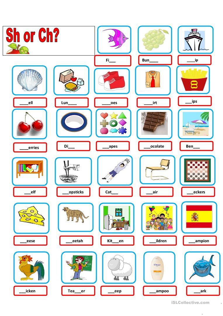 Sh-Ch Worksheet - Free Esl Printable Worksheets Madeteachers | Printable Ch Worksheets