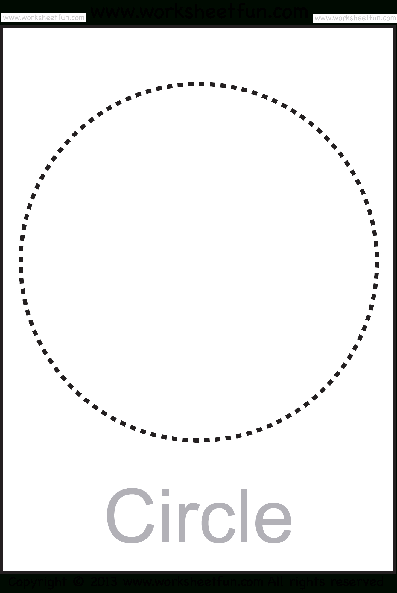 Shapes – Circle, Triangle, Square, Rectangle, Rhombus, Oval – Six | Circle Printable Worksheets