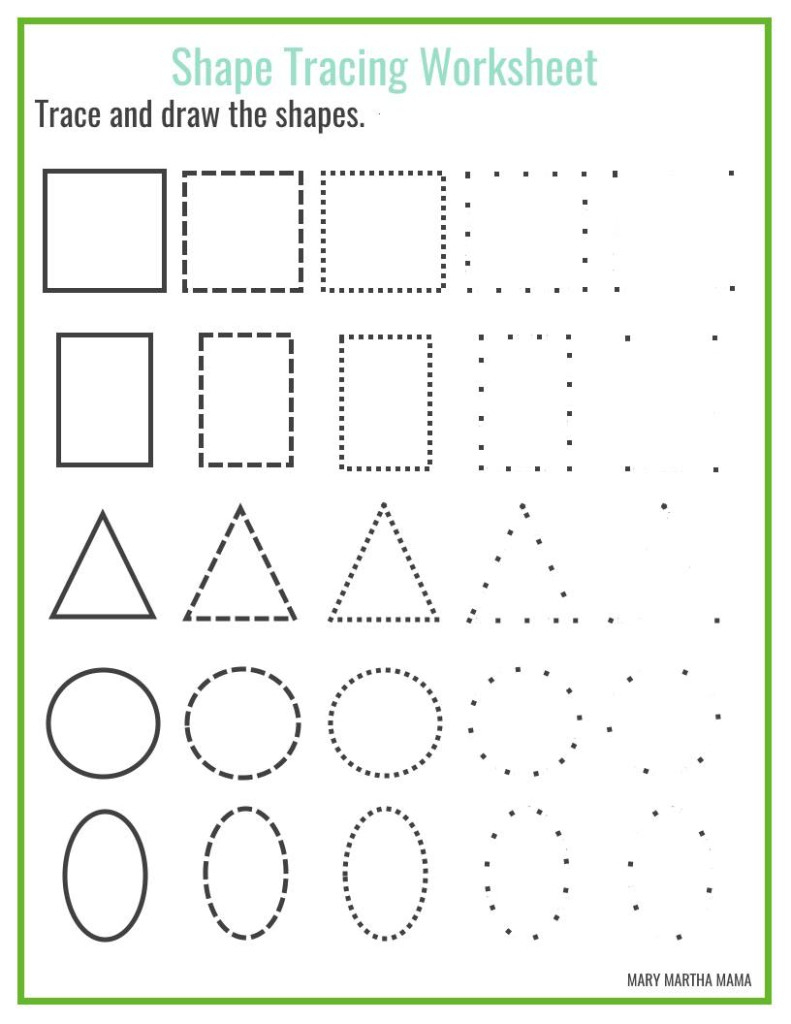 Shapes Worksheets For Preschool [Free Printables] – Mary Martha Mama | Free Printable Shapes Worksheets