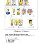 Simpsons Family Tree Worksheet   Free Esl Printable Worksheets Made | Family Tree Worksheet Printable