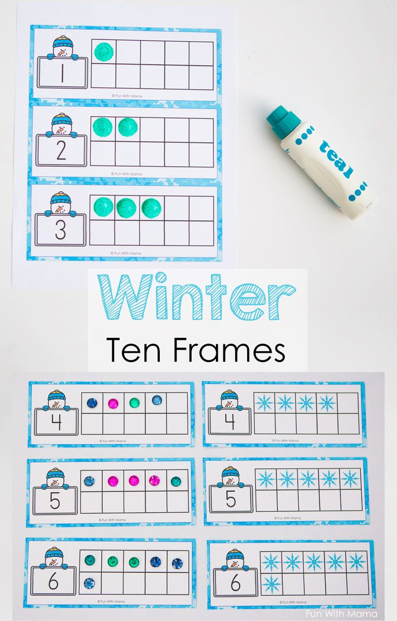 Snowman Winter Ten Frame Printable | Winter Crafts And Learning For | Ten Frame Printable Worksheets