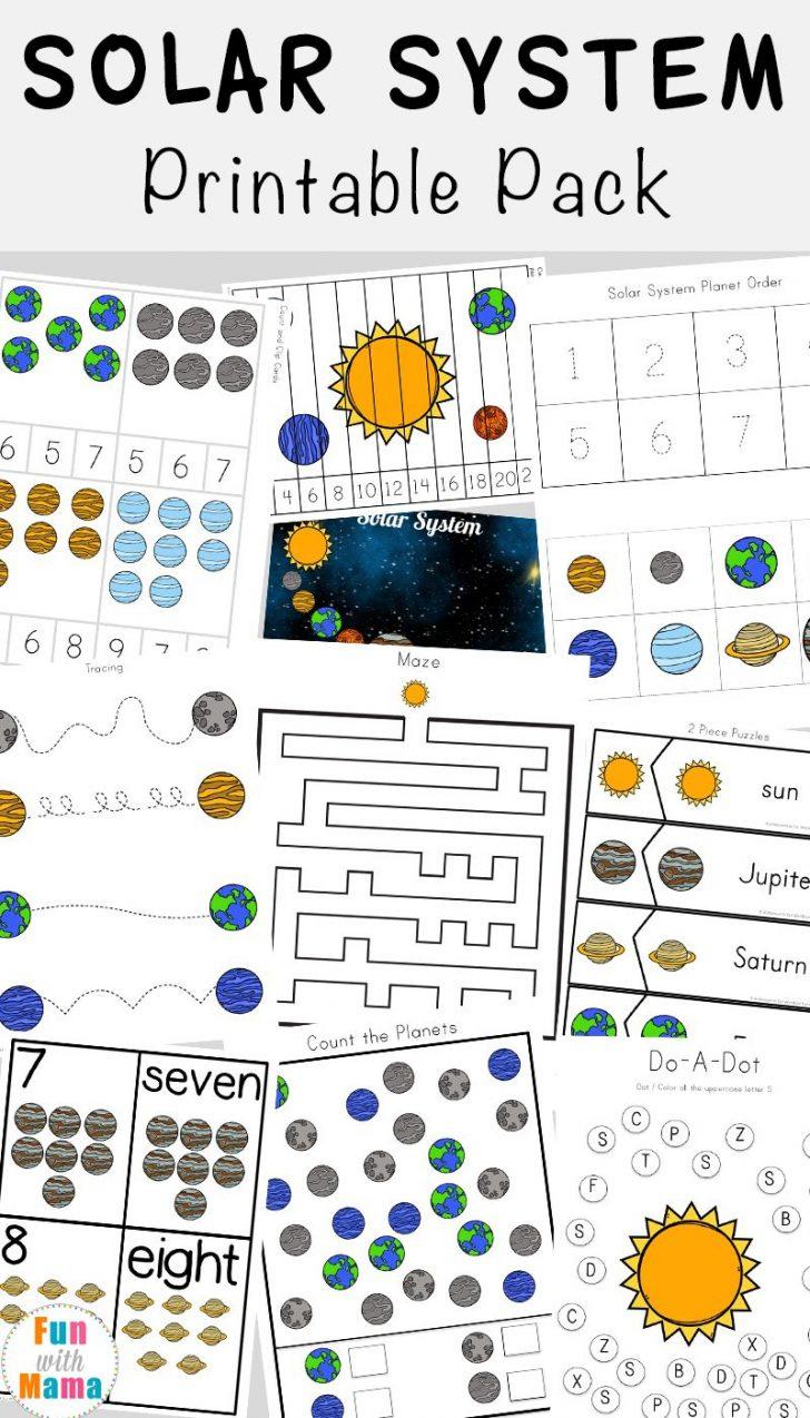 Free Printable Space Worksheets