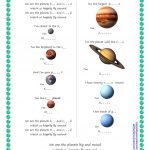 Song For Kids: Planets / Solar System Song Worksheet   Free Esl | Free Printable Solar System Worksheets
