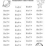 Space Theme   4Th Grade Math Practice Sheets   Multiplication Facts | 4Th Grade Printable Multiplication Worksheets