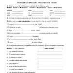 Spanish Worksheets Printables | Present Progressive Worksheet | Printable Spanish Worksheets Answers