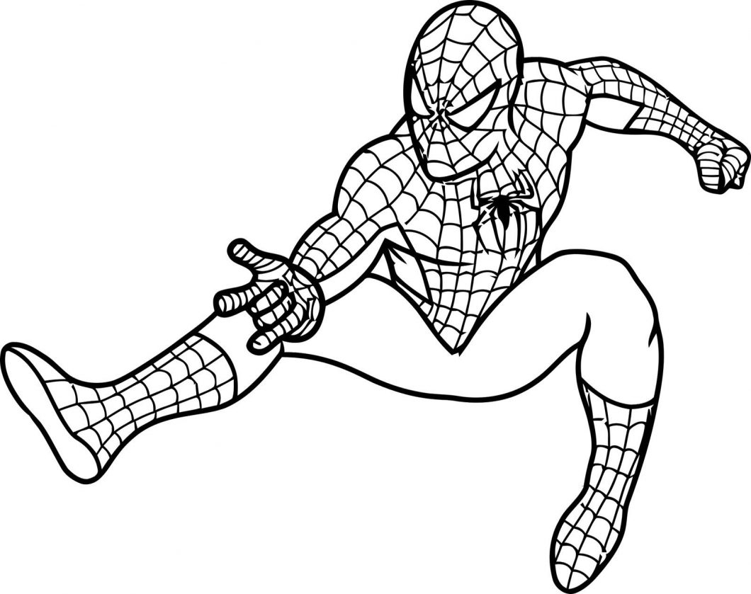 Spiderman Coloring Pages Free – With What Colour Is Spider Man Also | Spiderman Worksheets Free Printables