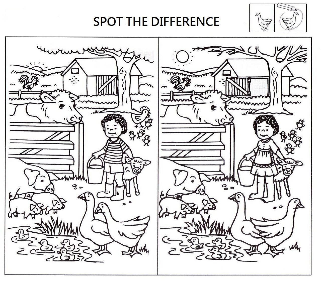 Spot The Difference Worksheets For Kids | Kids Worksheets Printable | Free Printable Spot The Difference Worksheets