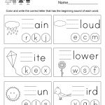 Spring Spelling Worksheet   Free Kindergarten Seasonal Worksheet For | Free Printable Spring Worksheets For Kindergarten