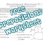 Squarehead Snowman: Prepositions Practice 2   Squarehead Teachers   Free Printable Worksheets For Prepositions