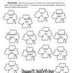 St. Patrick's Day Printouts And Worksheets | Free Printable St Patrick Day Worksheets