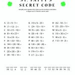 St. Patty's Day Crack The Secret Code Worksheet! Print This One Out | Printable Secret Code Worksheets