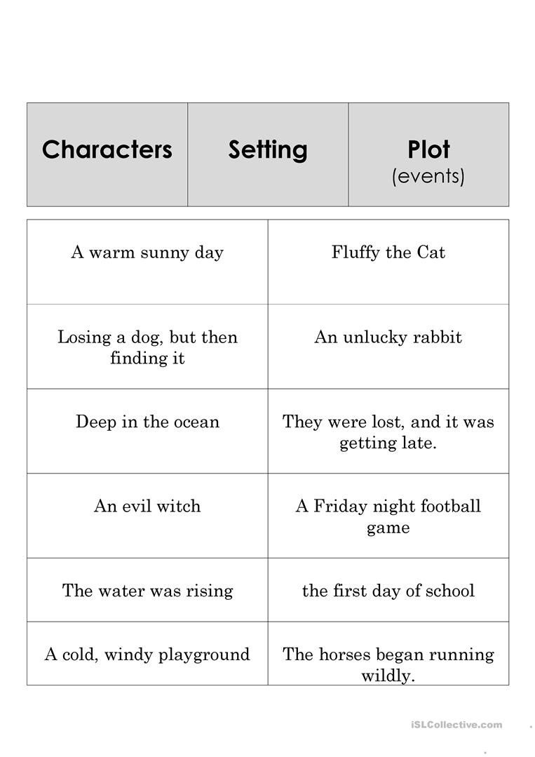 Story Element Set Worksheet - Free Esl Printable Worksheets Made | Free Printable Story Elements Worksheets