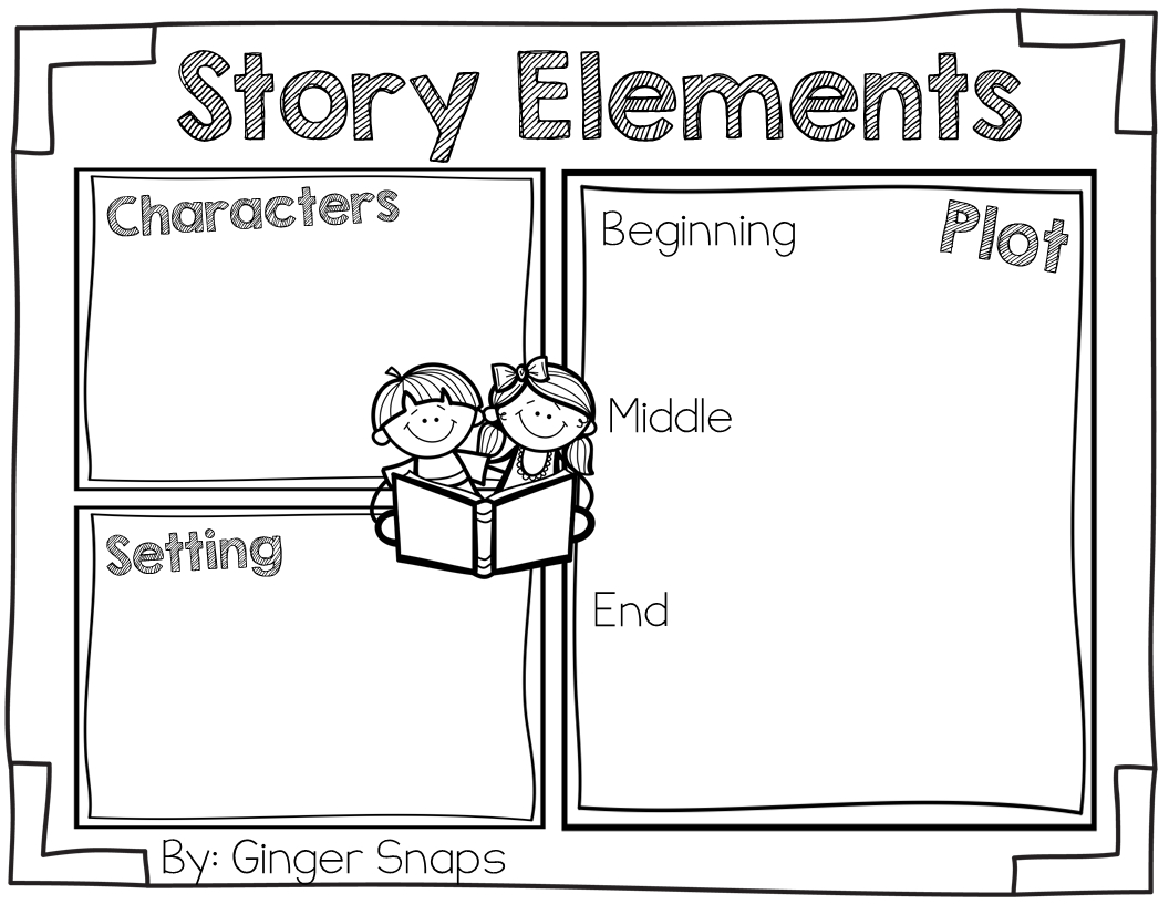 Story Elements Freebie (Ginger Snaps Treats For Teachers) | Free | Free Printable Story Elements Worksheets