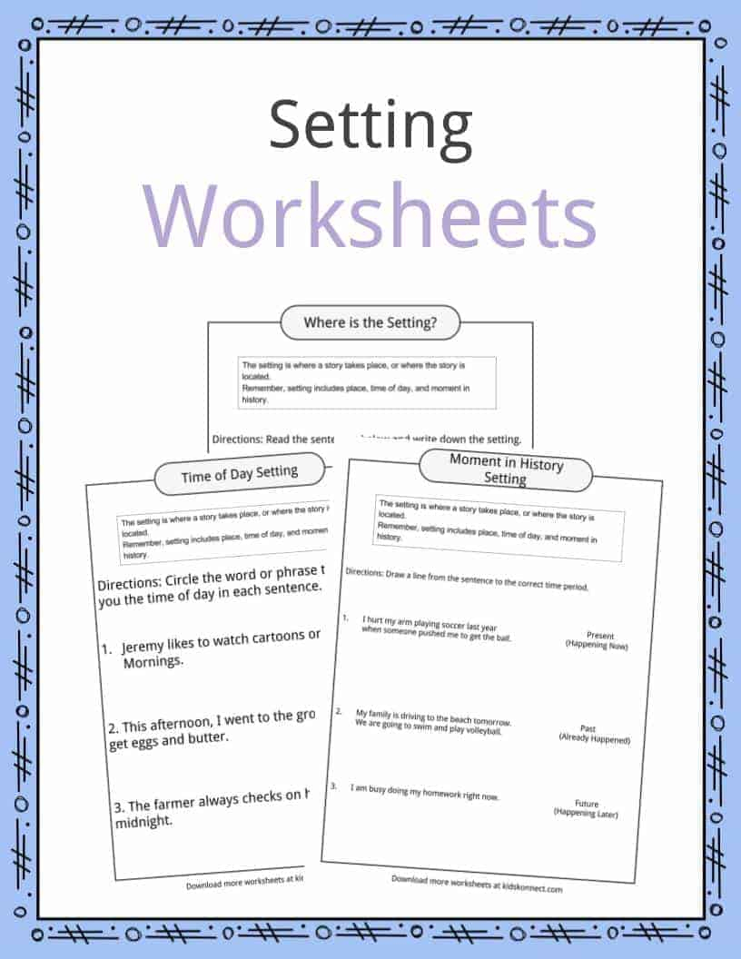 Story Setting Examples, Definition & Worksheets For Kids | Free Printable Literary Elements Worksheets