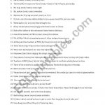 Subject Verb Agreement   Esl Worksheetsothol | Free Printable Subject Verb Agreement Worksheets