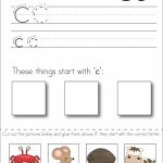 Subscriber Exclusive Freebie}   Letter C: Write, Cut & Paste | Free Printable Kindergarten Worksheets Cut And Paste