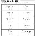 Syllables At The Zoo Worksheet   Free Printable Open And Closed | Free Printable Open And Closed Syllable Worksheets