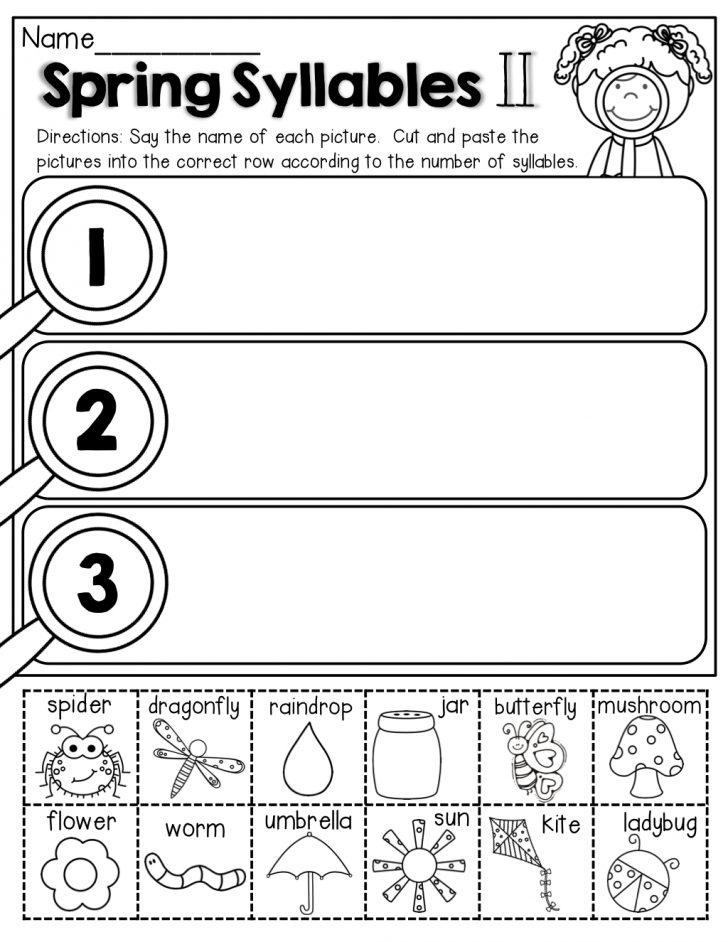 Free Printable Syllable Worksheets For Kindergarten