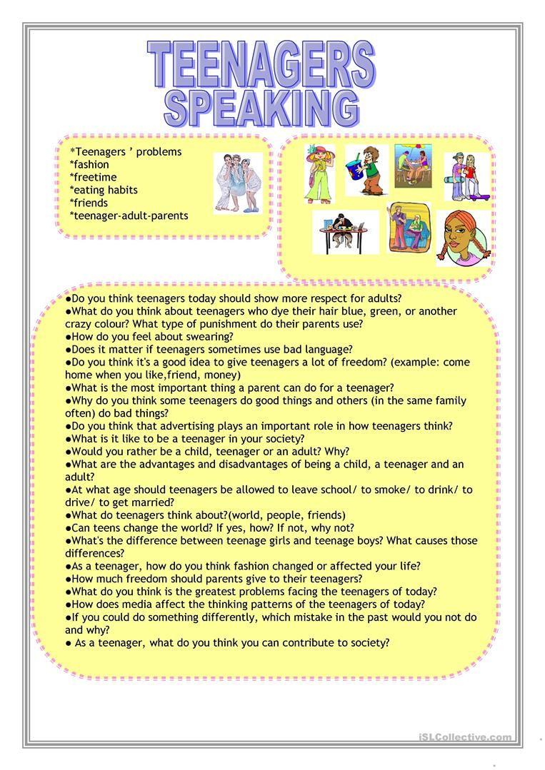 Teenagers Worksheet - Free Esl Printable Worksheets Madeteachers | Printable Worksheets For Teens