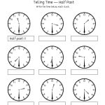 Telling Time Half Past The Hour Worksheets For 1St And 2Nd Graders | Free Printable Telling Time Worksheets For 1St Grade