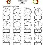 Telling Time Worksheets   Google Search | L'heure | Pinterest   Free | Free Printable Time Worksheets For Kindergarten