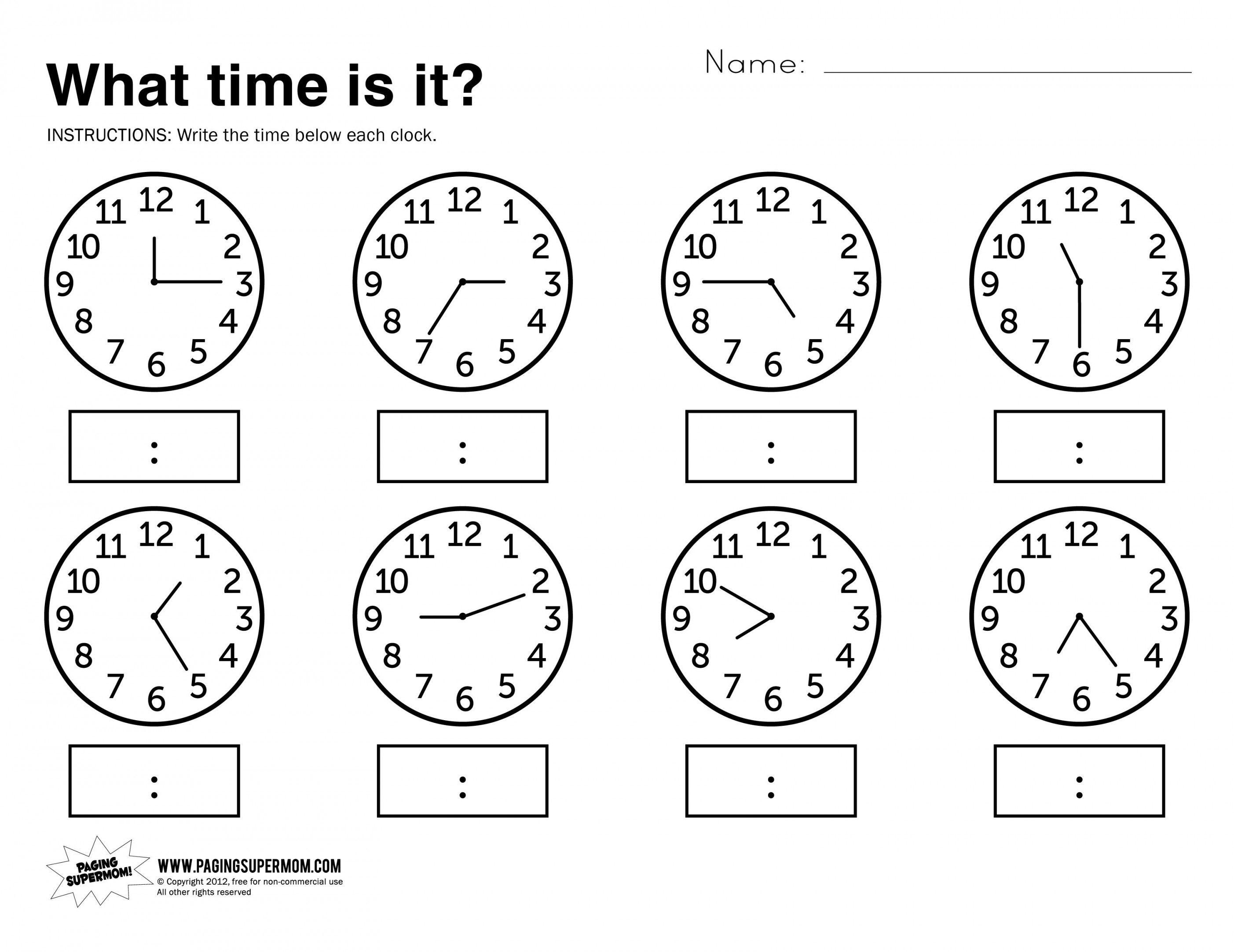 Telling Time Worksheets Grade 3 | Lostranquillos - Free Printable | Telling Time Worksheet Printable