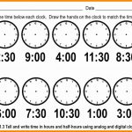 Telling Time Worksheets Printable – Worksheet Template   Free | Printable Telling Time Worksheets 1St Grade