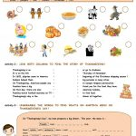 Thanksgiving Activities Worksheet   Free Esl Printable Worksheets | Free Printable Thanksgiving Worksheets For Middle School