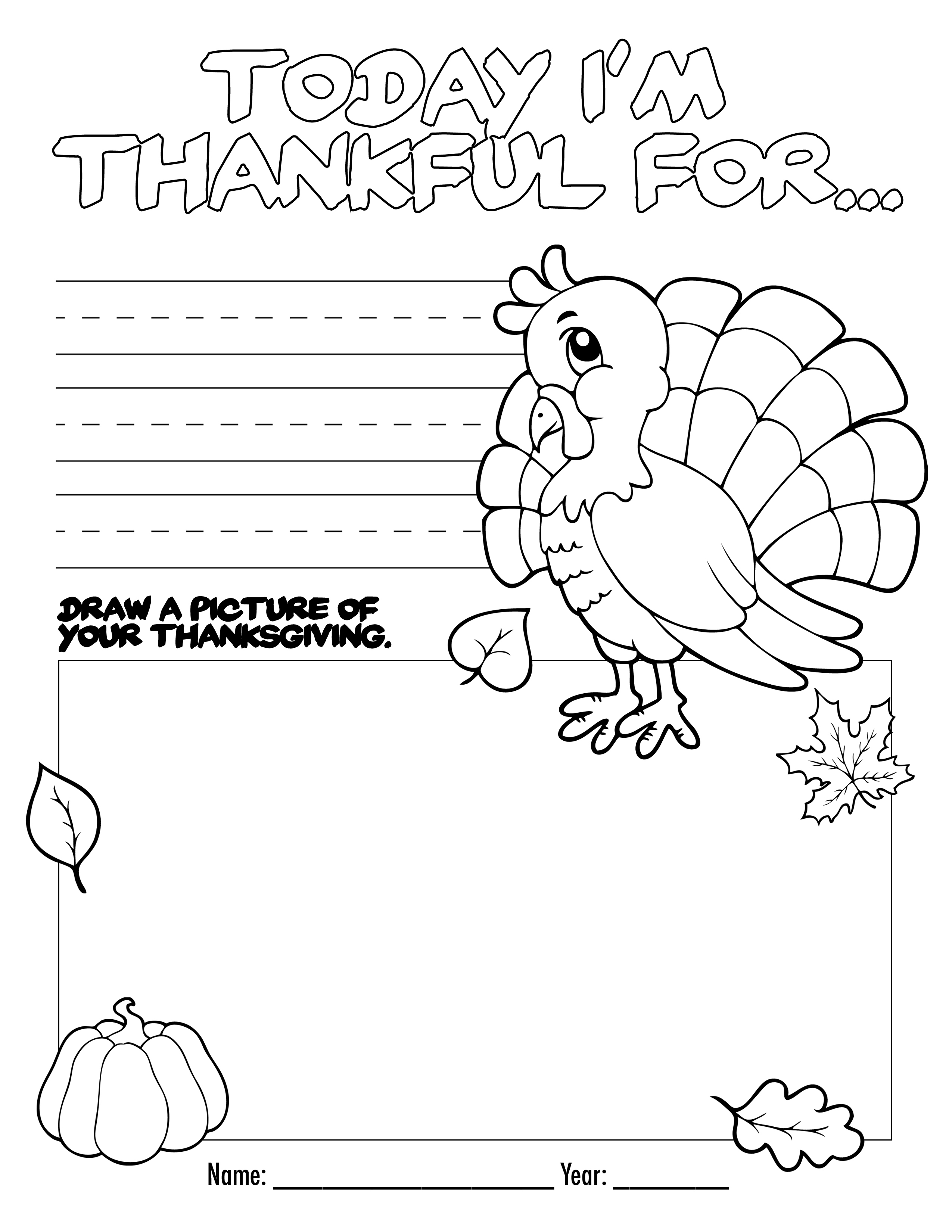 Thanksgiving Coloring Book Free Printable For The Kids! - Free | Free Printable Preschool Thanksgiving Worksheets