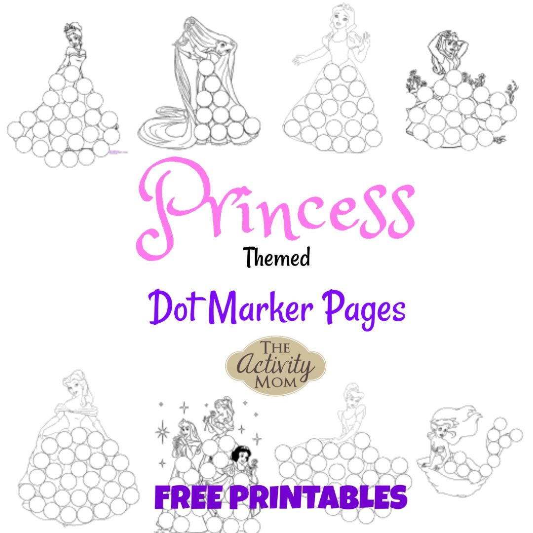 The Activity Mom - Princess Dot Marker Pages (Printable) - The | The Printable Princess Worksheets