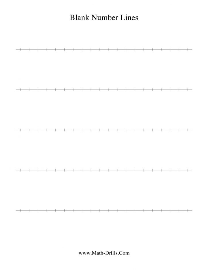 Free Printable Number Line Worksheets