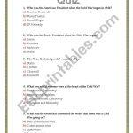 The Cold War Quiz   Esl Worksheetsviviana | Cold War Printable Worksheets