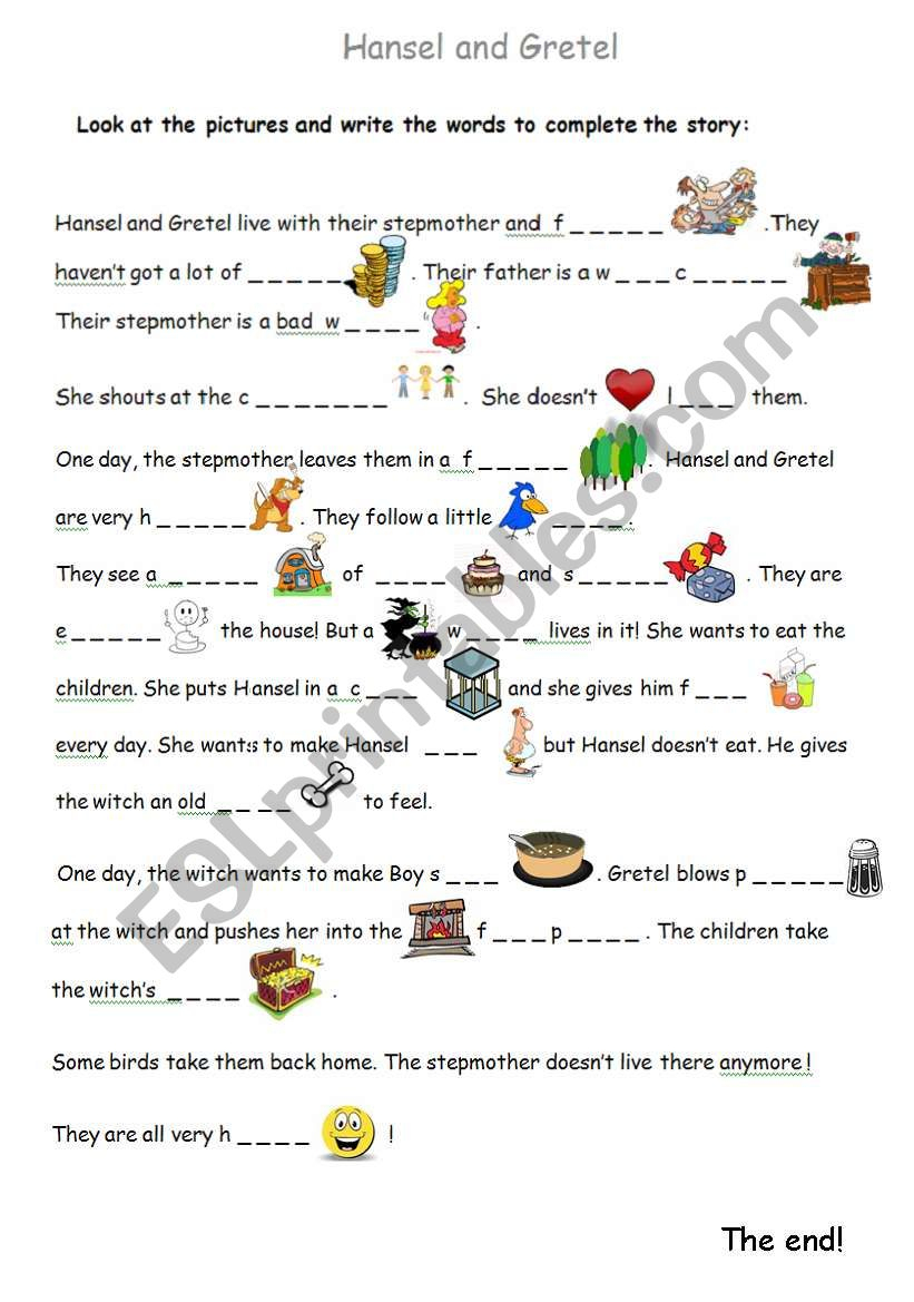 The Hansel And Gretel Story With Pictures - Esl Worksheetevaggelia23 | Hansel And Gretel Printable Worksheets