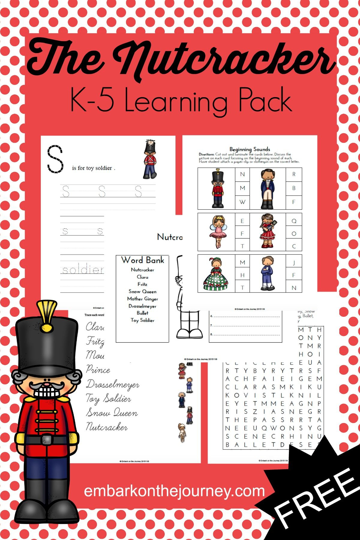 The Nutcracker Printable Learning Pack | Worksheets & Printables For | Nutcracker Worksheets Printable