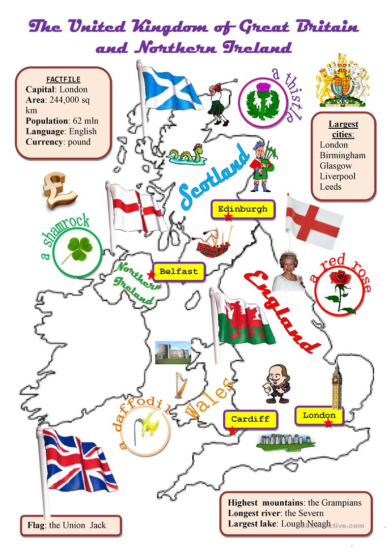 The Uk:map Worksheet - Free Esl Printable Worksheets Madeteachers | Free Printable Worksheets Uk